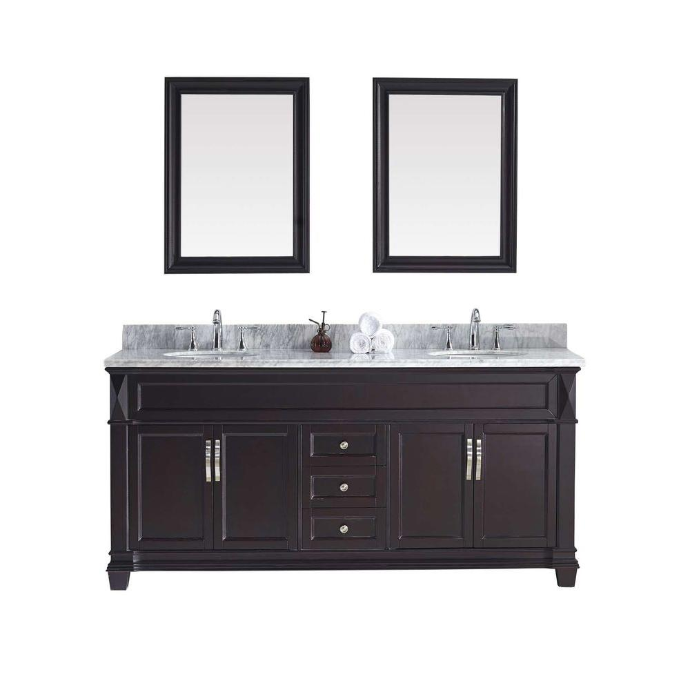 Virtu USA Victoria 72 in. W x 36 in. H Vanity