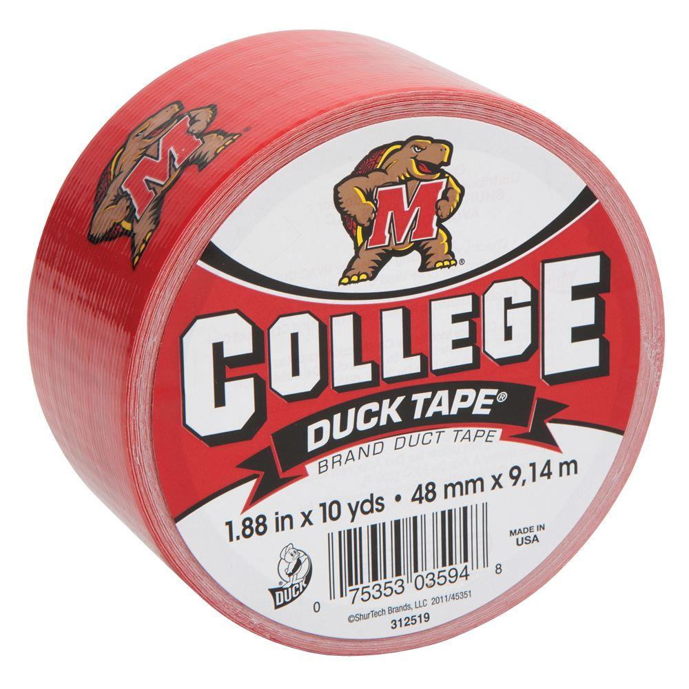 College 1-7/8 in. x 30 ft. University of Maryland Duct Tape