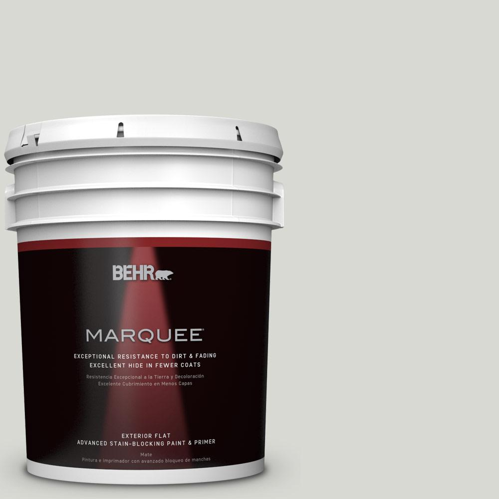 BEHR MARQUEE 5-gal. #N360-1 Seagull Gray Flat Exterior Paint-445005 - The