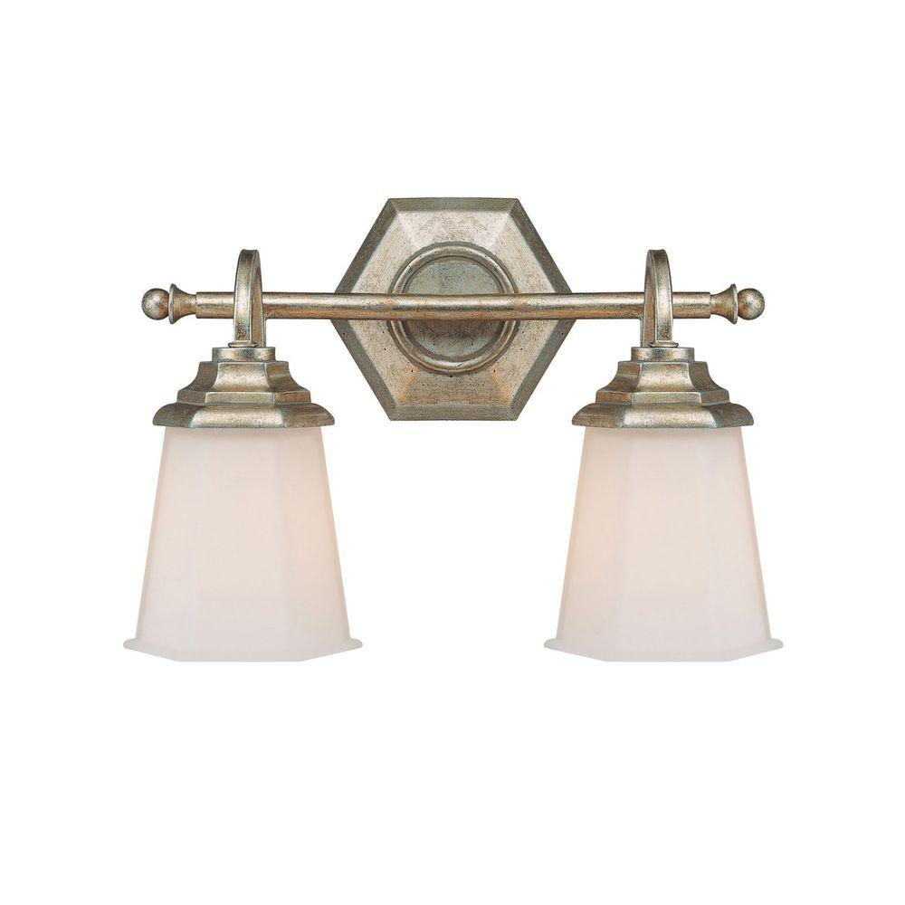 Filament Design Johnson Collection 2-Light Winter Gold Vanity Light with Soft