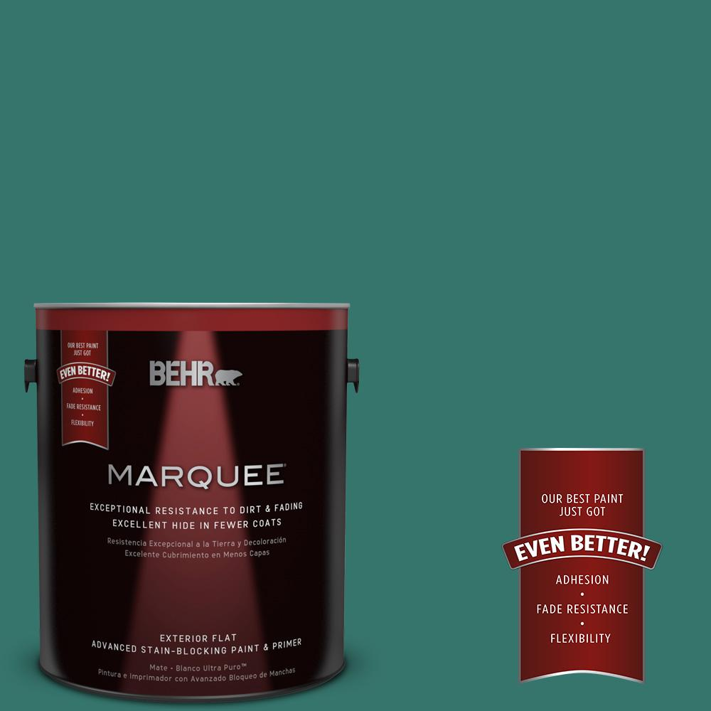 BEHR MARQUEE 1-gal. #490D-7 Greensleeves Flat Exterior Paint-445301 - The Home