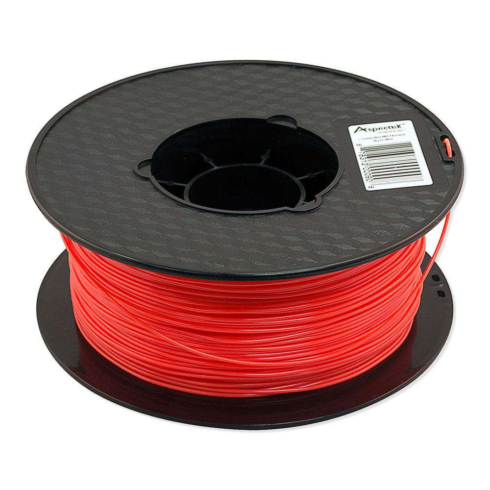 Aspectek 3D Printer Premium Red ABS Filament-HZ123111 - The Home Depot