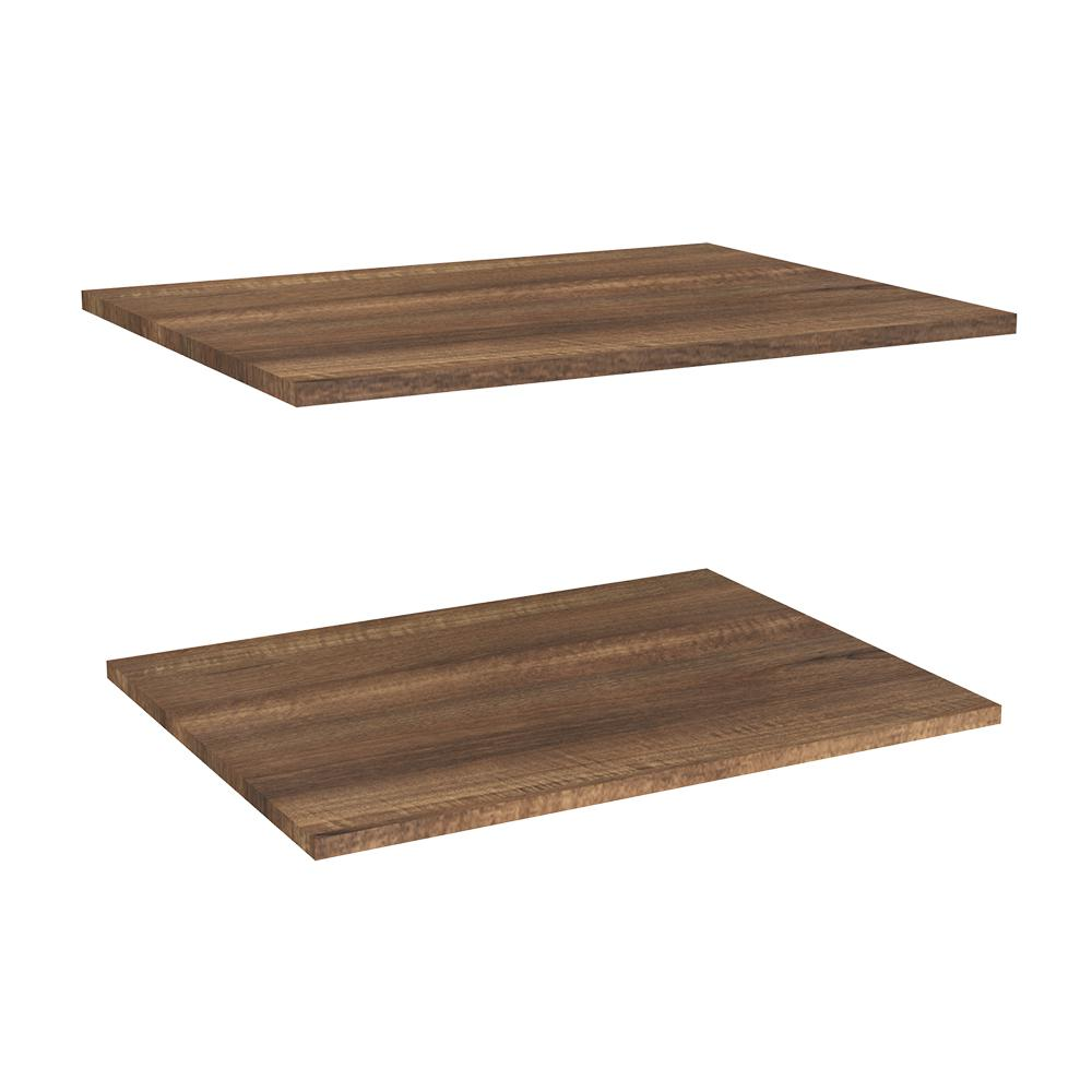 Impressions 25 in. Deluxe Extra Shelves in Walnut (2-Pack)