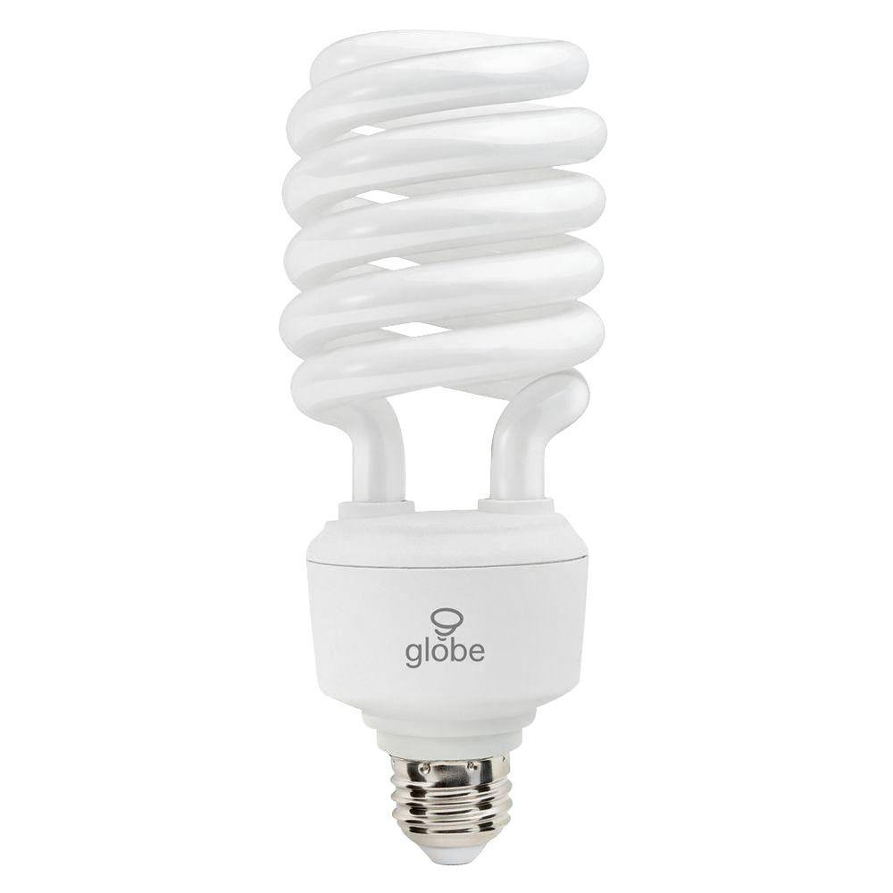 Globe Electric 40W Equivalent Soft White (2700K) T4 Spiral CFL Light Bulb (2-Pack)