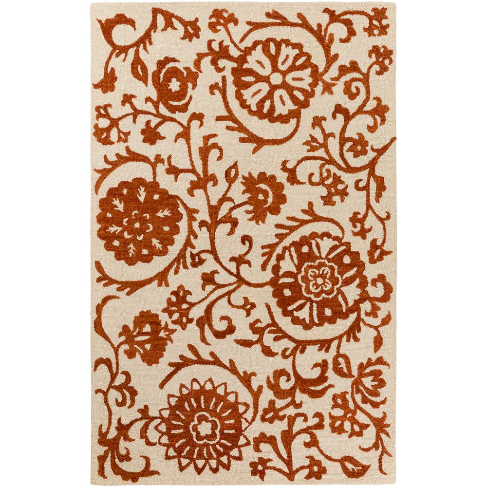 Rhodes Maggie Rust 8 ft. x 10 ft. Indoor Area Rug
