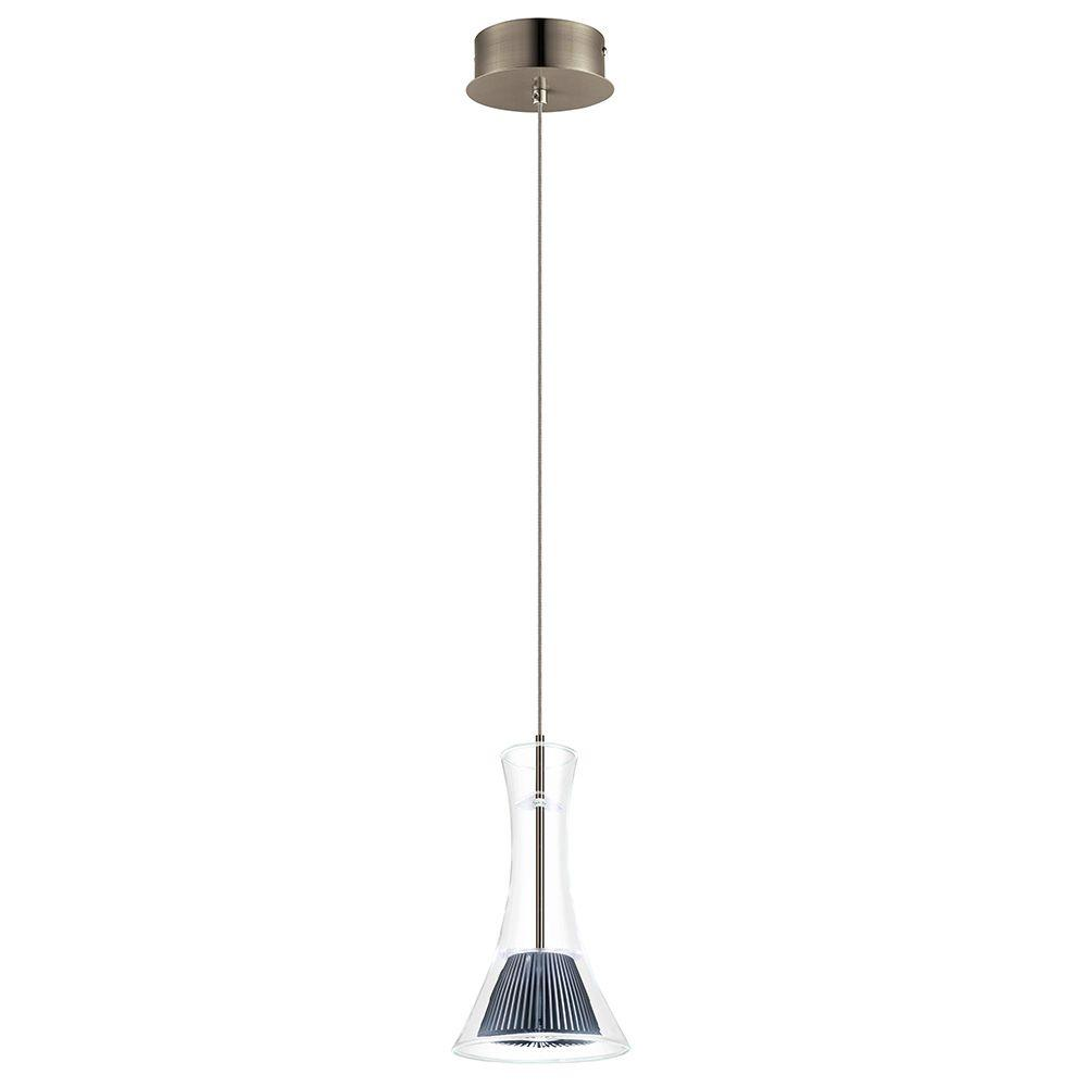 Eglo Musero Matte Nickel LED Pendant-93791A - The Home Depot