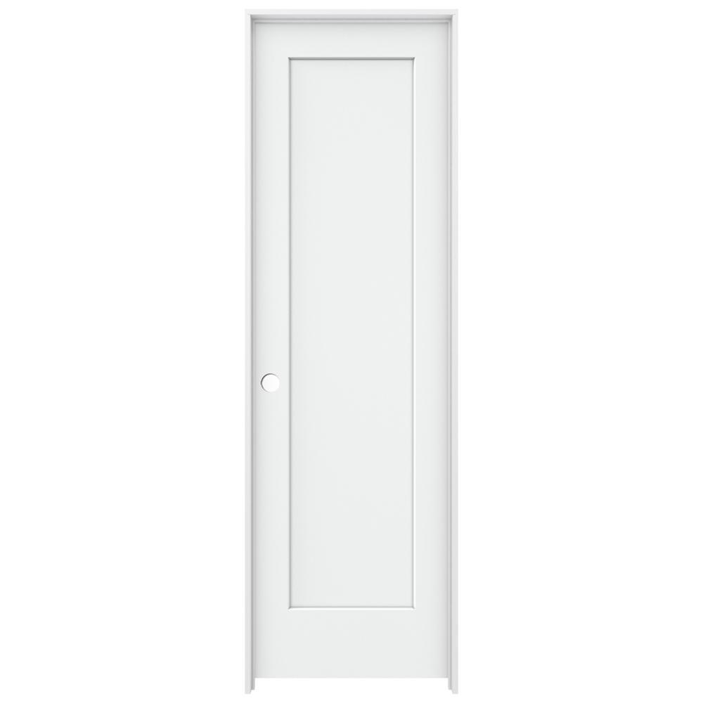 24 in. x 80 in. Madison White Painted Right-Hand Smooth Solid