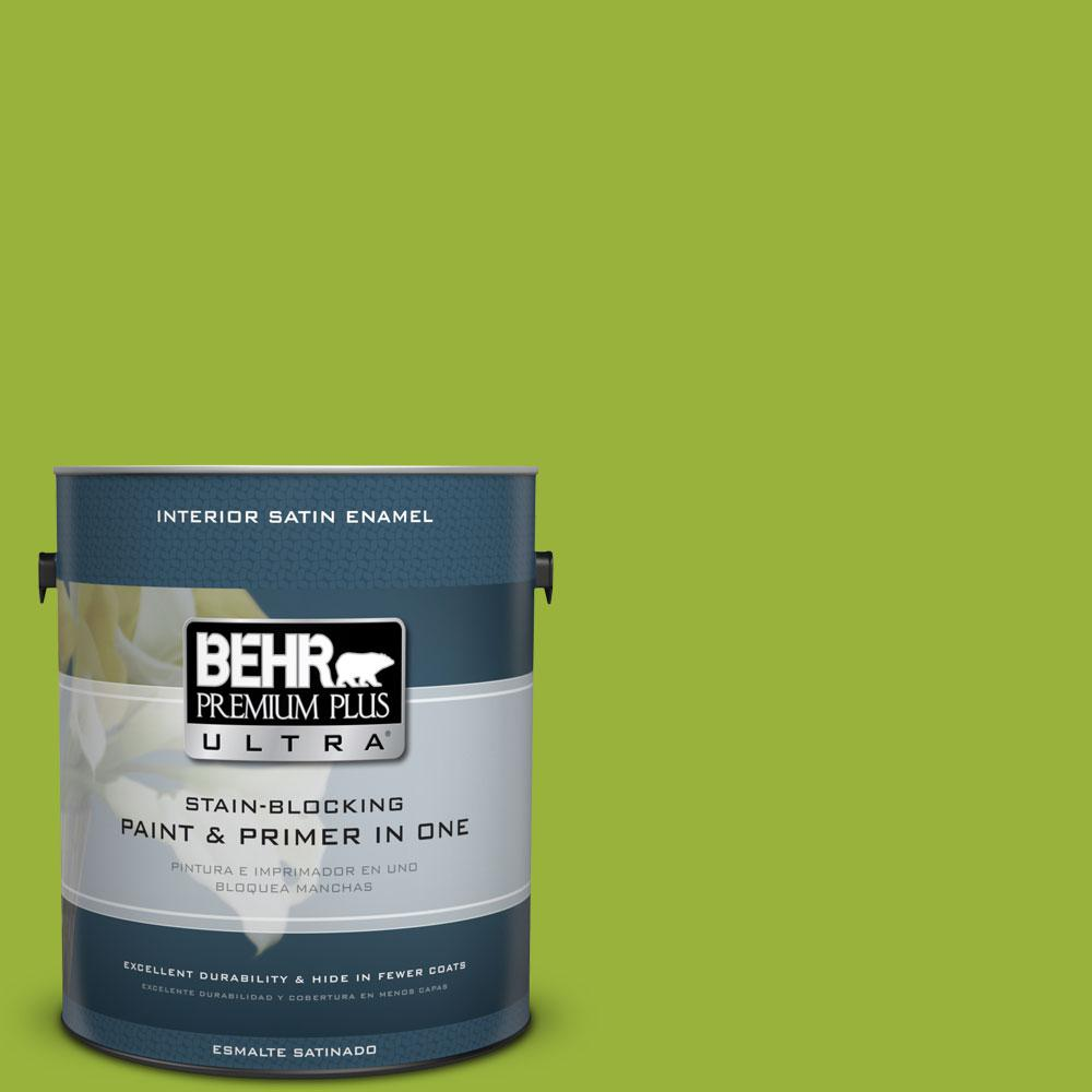 1-gal. #410B-7 Bamboo Leaf Satin Enamel Interior Paint