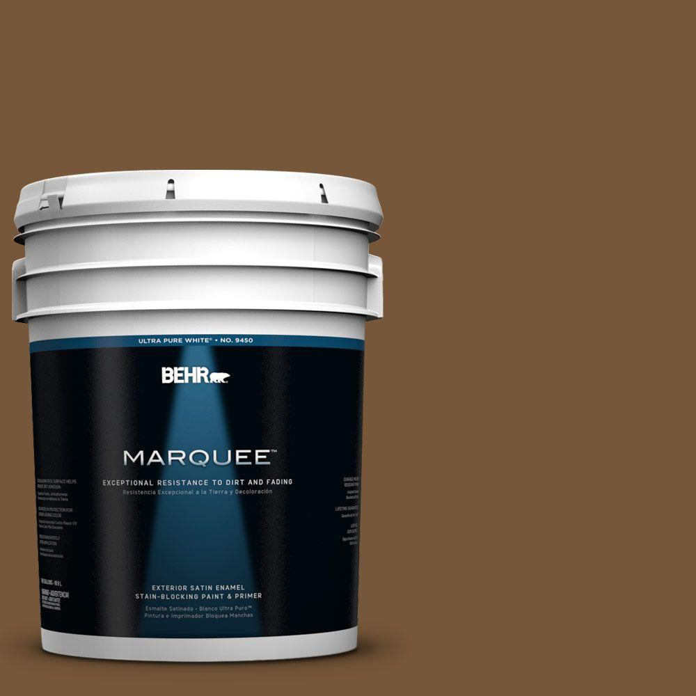 BEHR MARQUEE 5-gal. #290F-7 Wooden Cabin Satin Enamel Exterior Paint