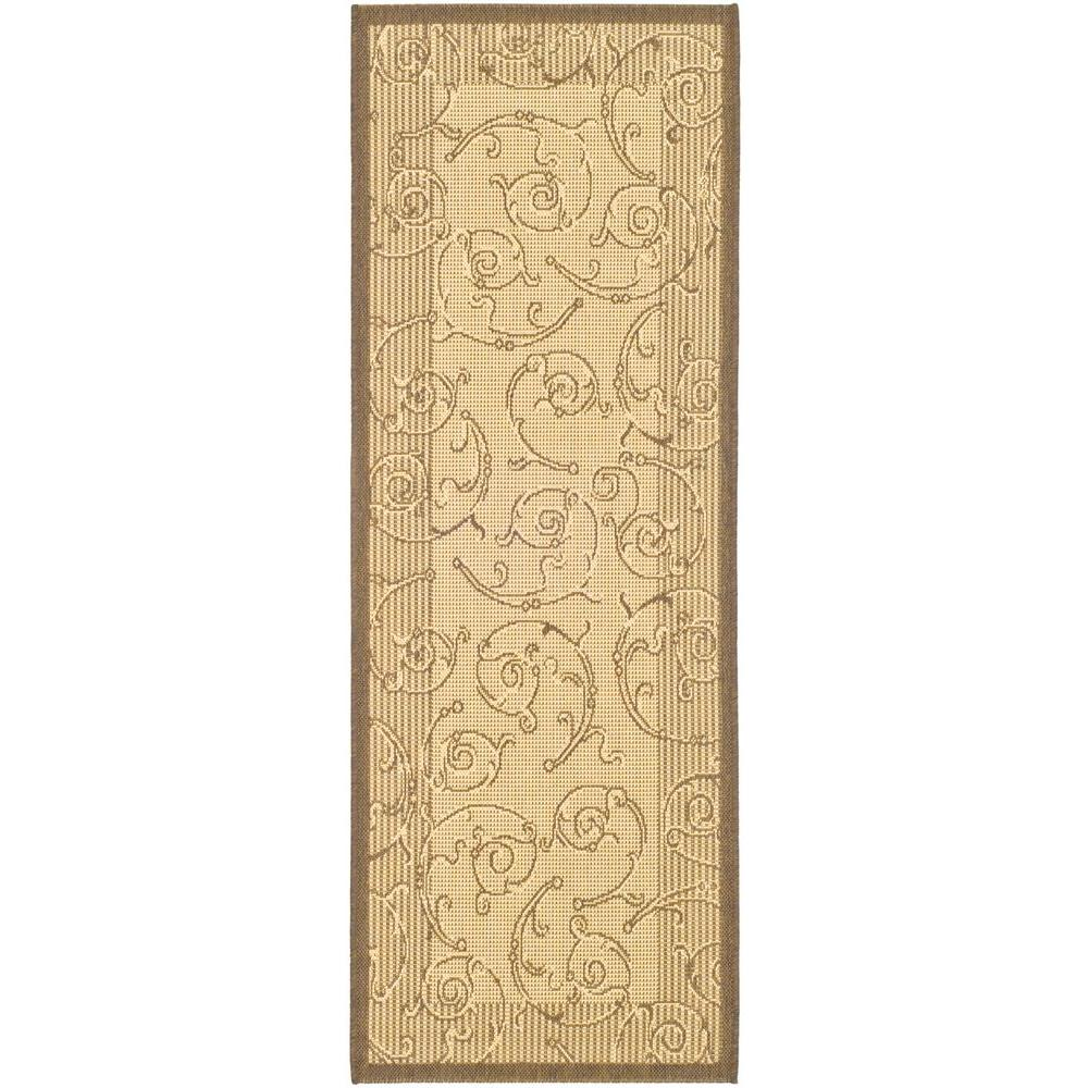 Safavieh Courtyard Natural/Brown 2 ft. 3 in. x 10 ft. Runner-CY2665-3001-210