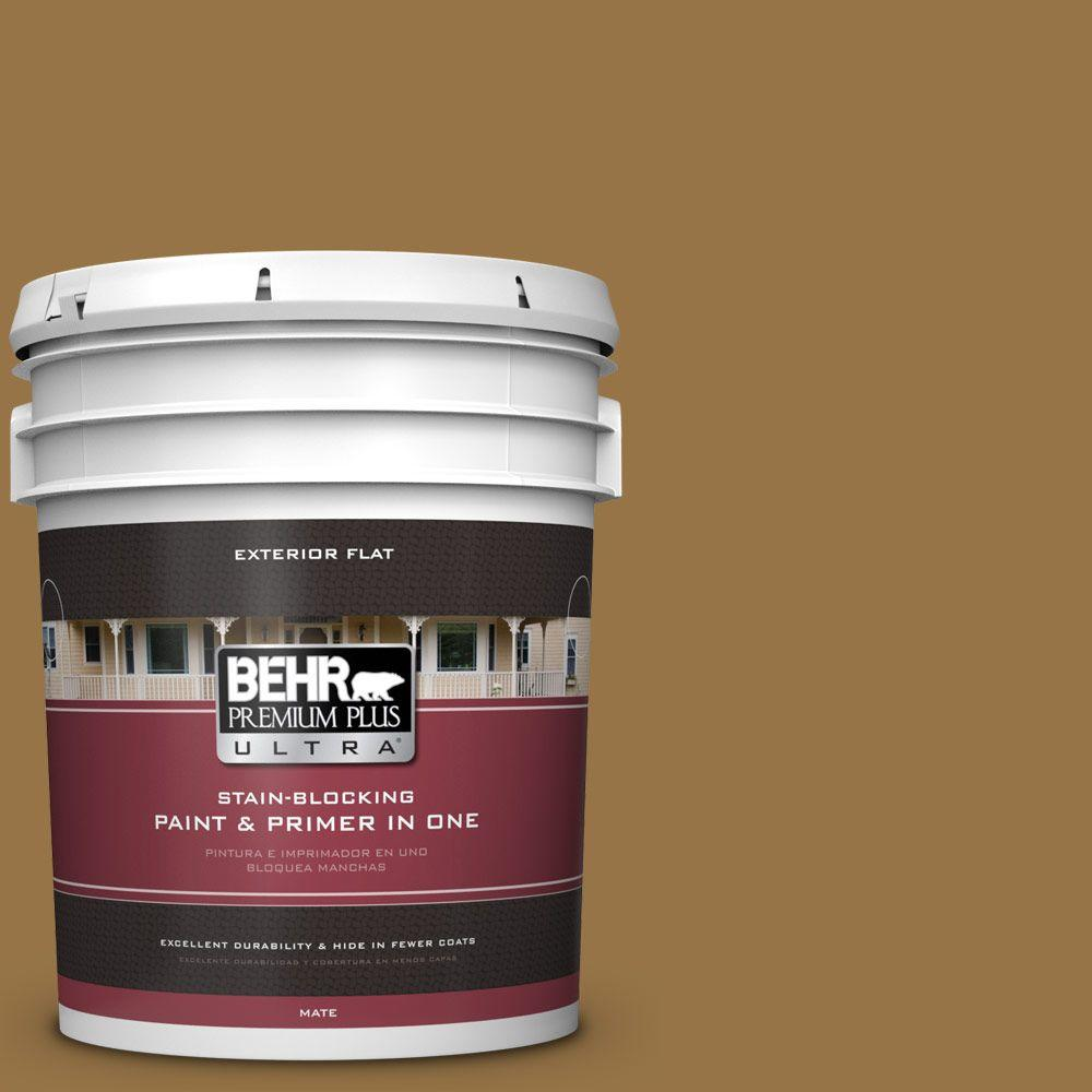 5-gal. #S300-7 Rococo Gold Flat Exterior Paint