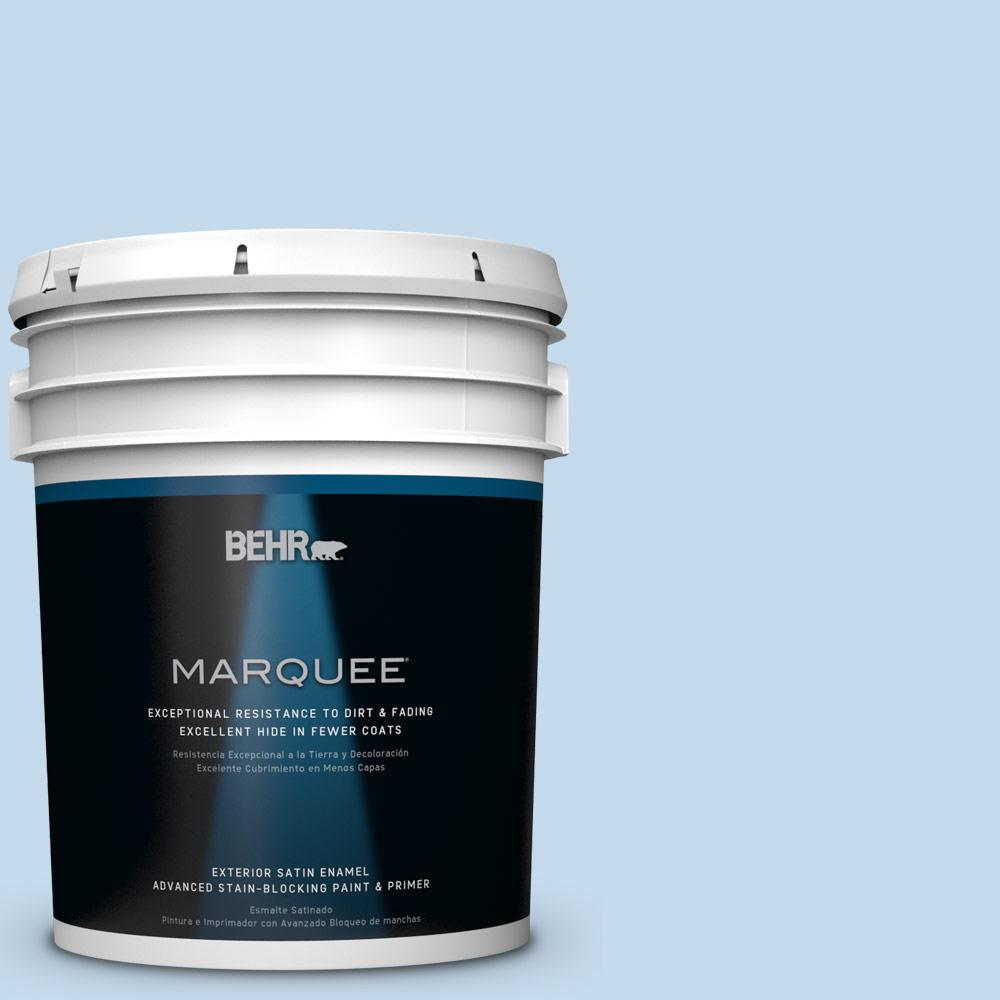 BEHR MARQUEE 5-gal. #HDC-CT-15 Summer Sky Satin Enamel Exterior Paint-945005 -