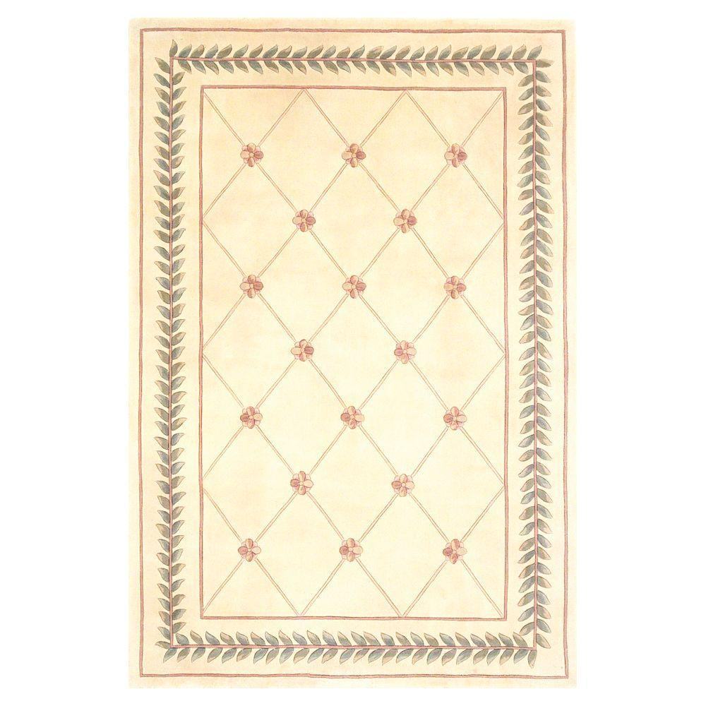 French Trellis Ivory 2 ft. 6 in. x 4 ft. 2