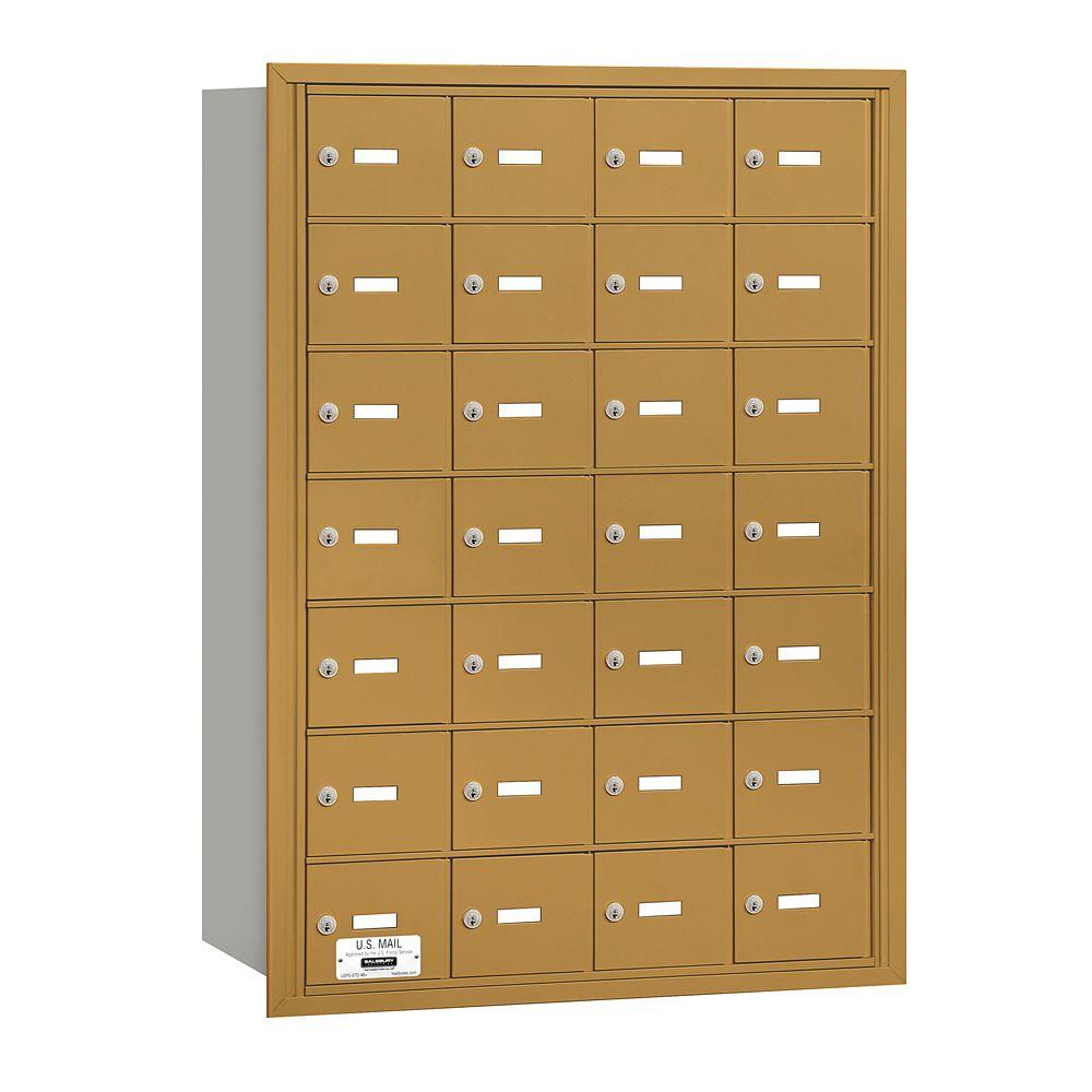 Gold Usps Access Rear Loading 4B Plus Horizontal Mailbox with 28A Doors