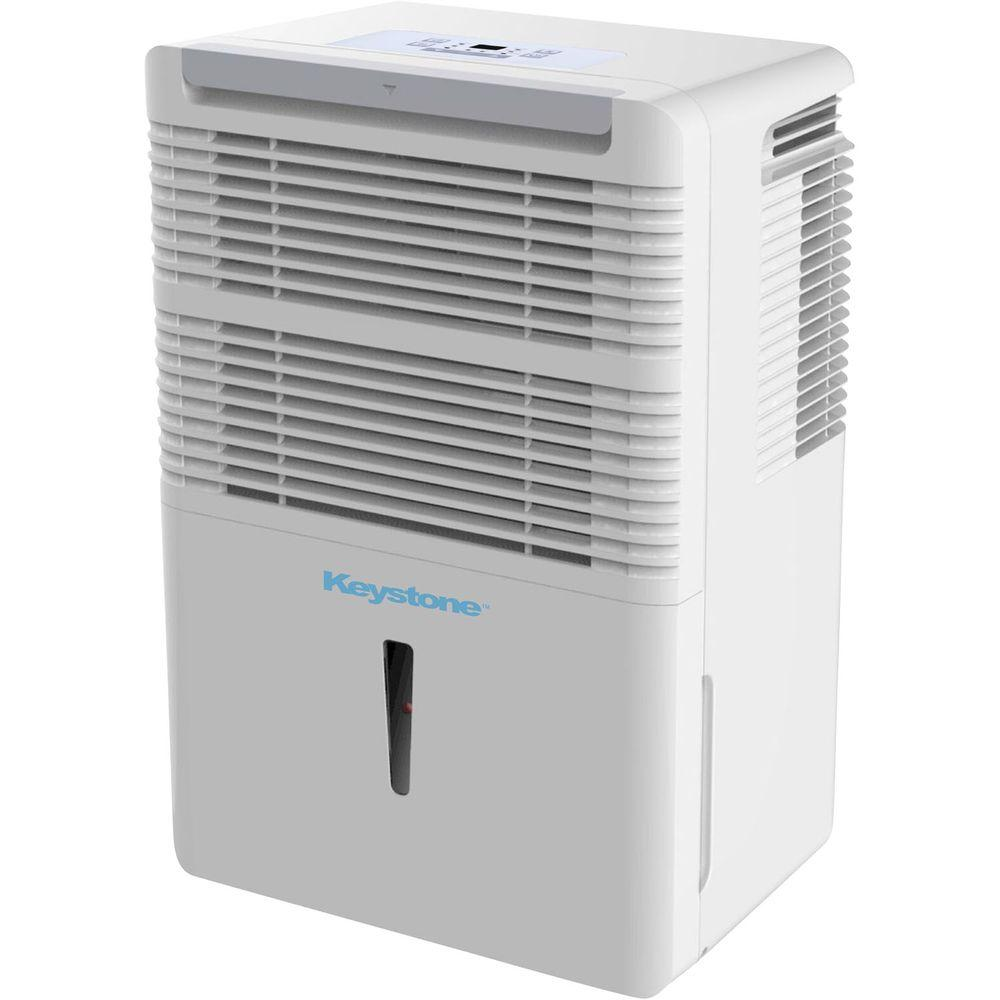 Energy Star 50-Pint Dehumidifier with Electronic Controls in White