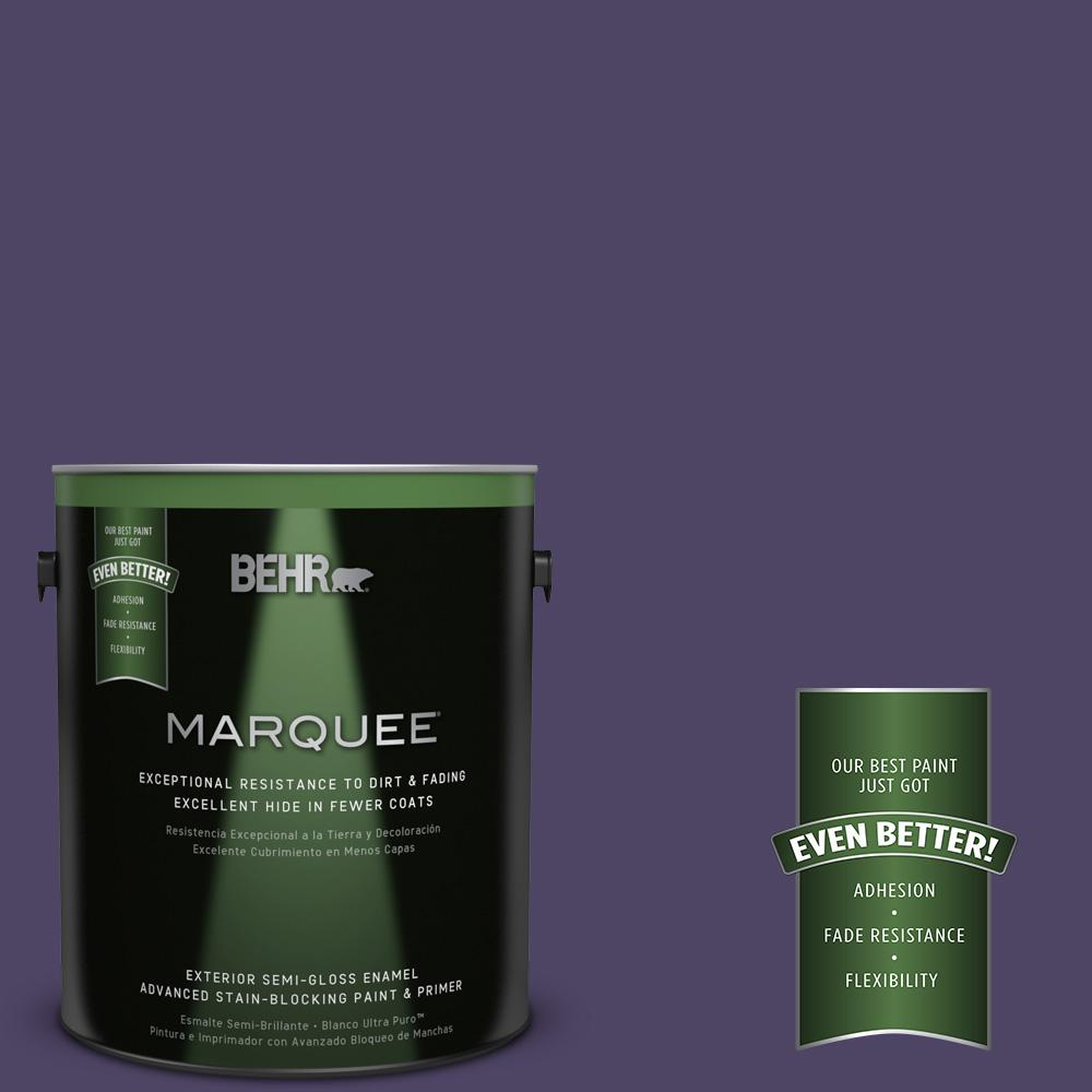 1-gal. #S-H-650 Berry Charm Semi-Gloss Enamel Exterior Paint