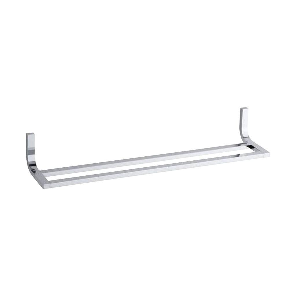 Loure 24 in. Double Towel Bar in Polished Chrome