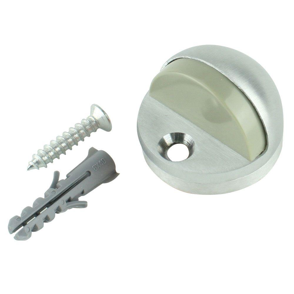 Satin Chrome Adjustable Floor Doorstop