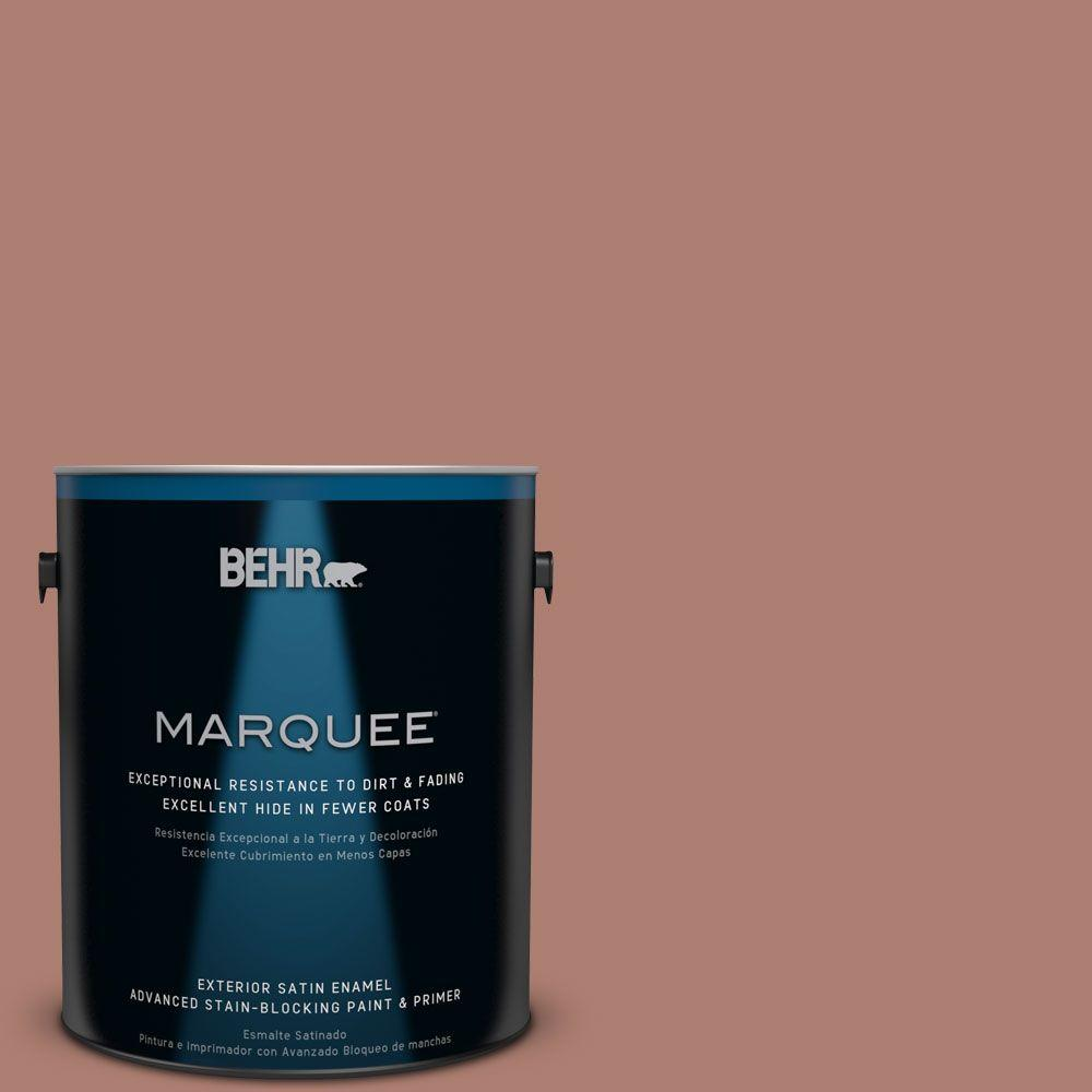 BEHR MARQUEE 1-gal. #PPU2-11 Mars Red Satin Enamel Exterior Paint-945401 -