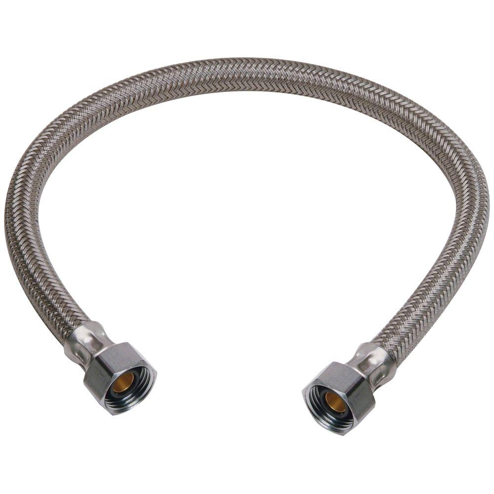 BrassCraft 1/2 in. FIP x 1/2 in. FIP x 30 in. Braided Polymer Faucet Connector
