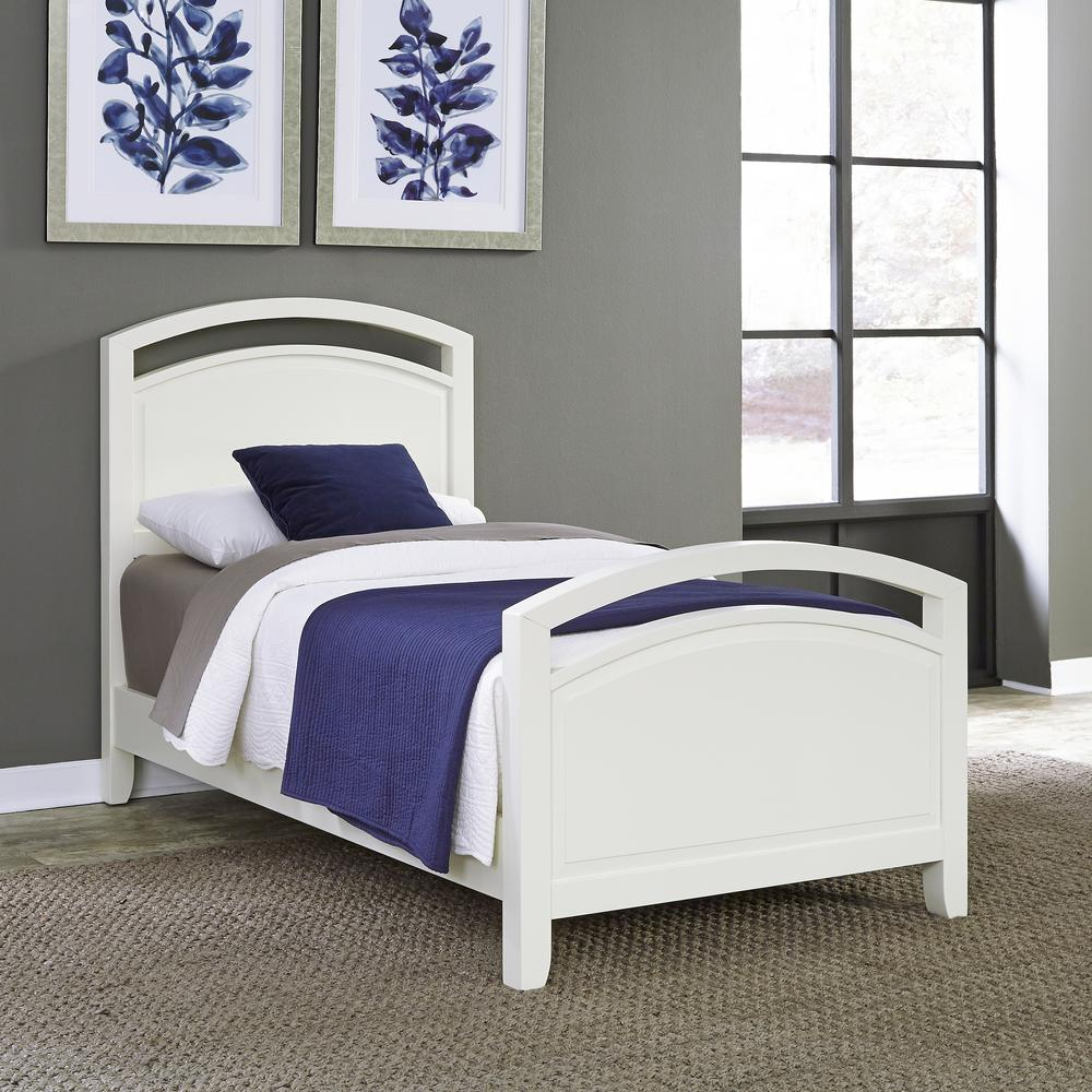 Dhp bombay white twin bed frame 3246098 the home depot for White bed frame