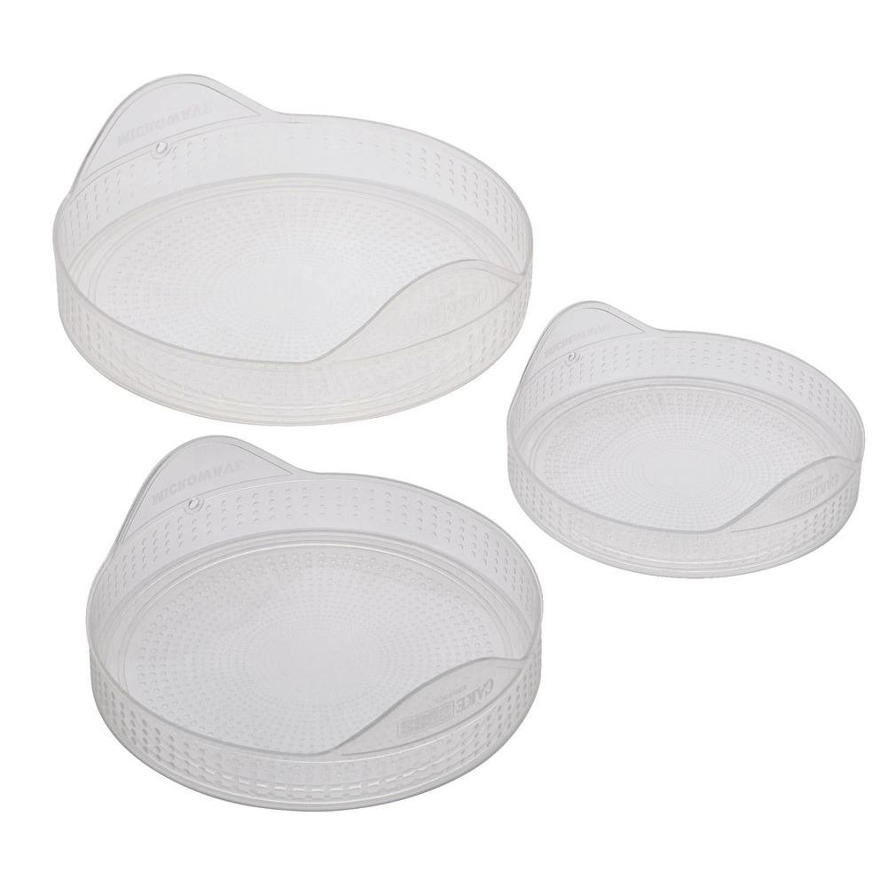 Cake Boss 5-1/2 in., 6-1/2 in. and 8 in. Silicone Lids