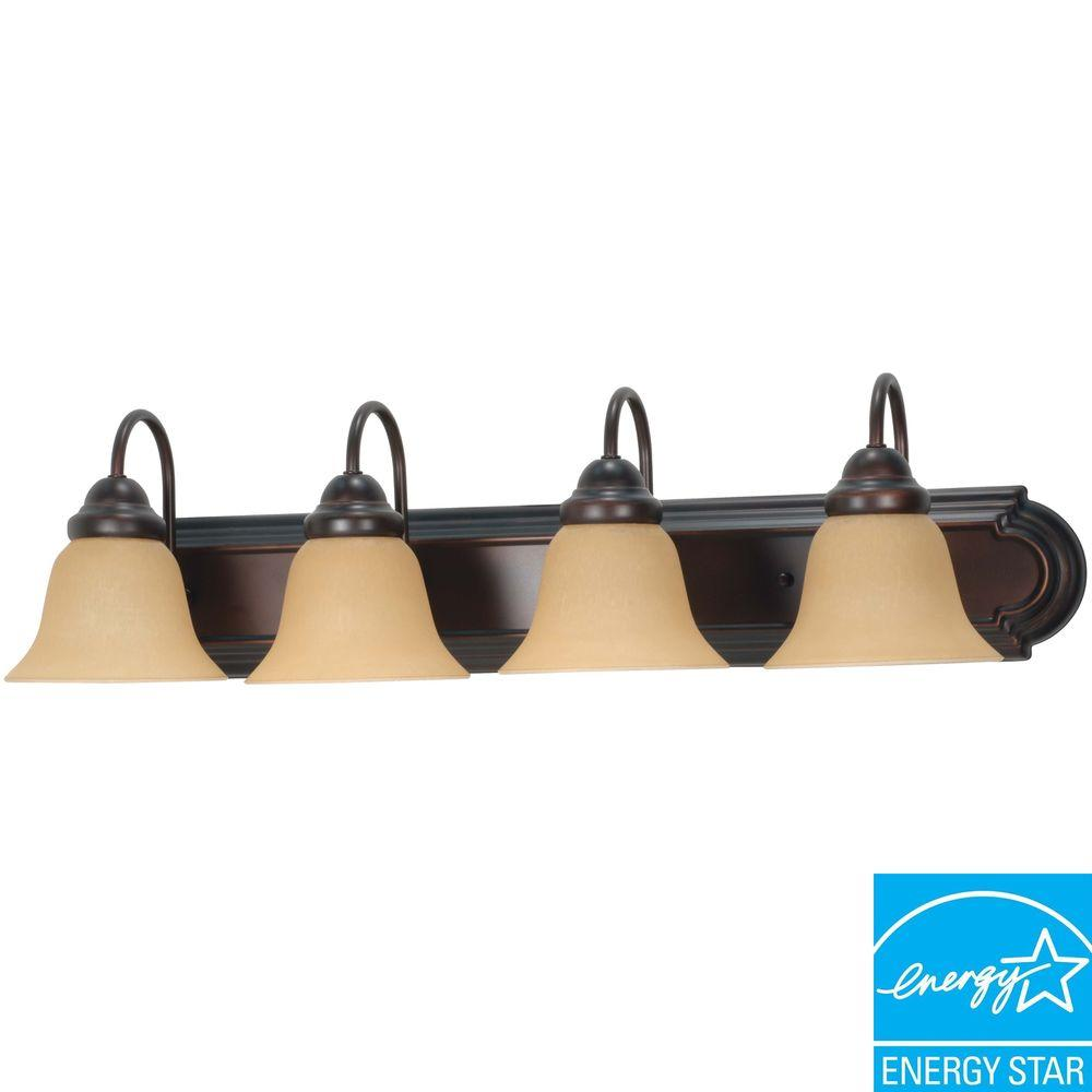 Sophrosyne 4-Light Mahogany Bronze Bath Vanity Light