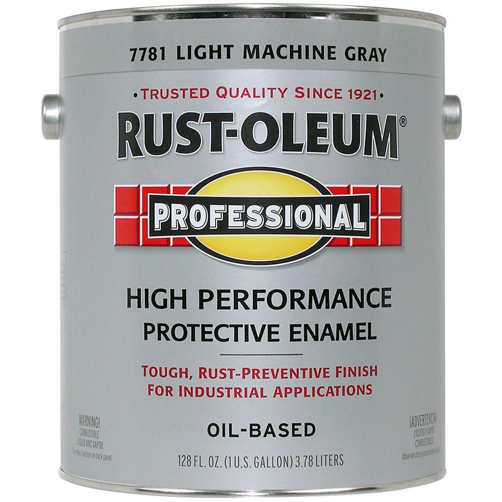 Rust-Oleum Professional Gloss Light Machine Gray 1 Gallon Oil Based Enamel-DISCONTINUED