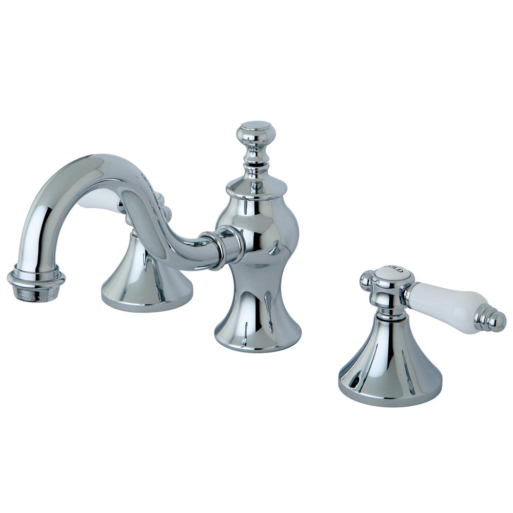 Country Lever 8 in. Widespread 2-Handle High-Arc Bathroom Faucet in Chrome