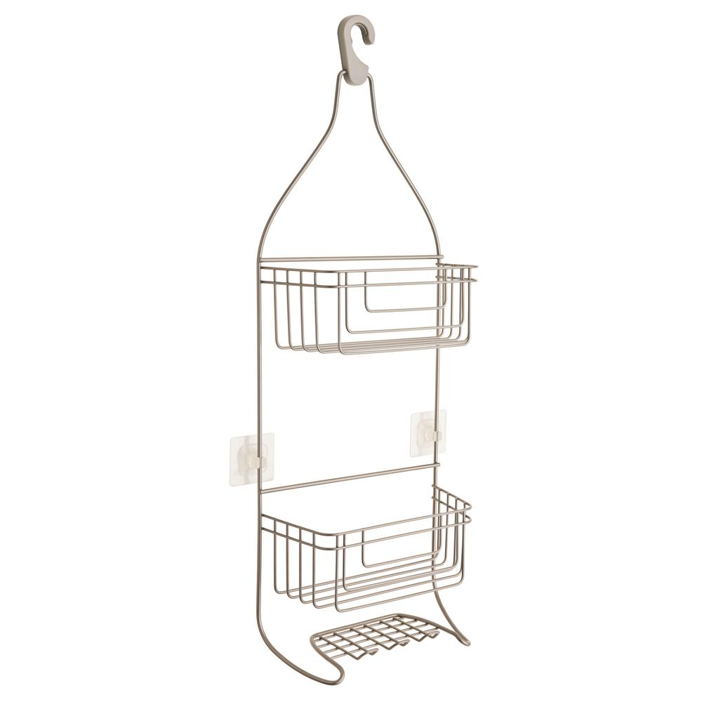 FRANKLIN BRASS Shower Caddy with IncrediGrip Pads in Satin Nickel