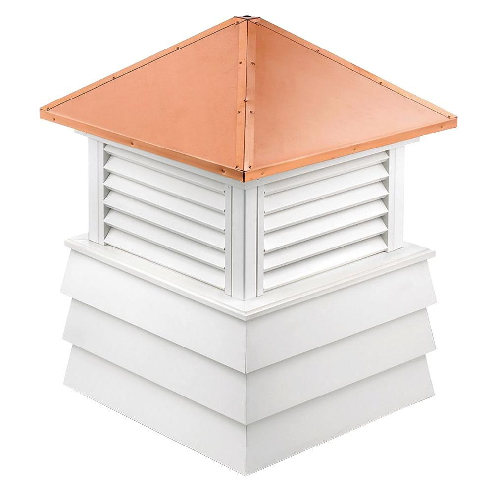 Dover Vinyl Cupola with Copper Roof 54 in. x 75 in.