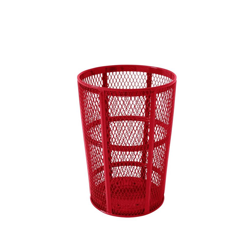 Portable 45 Gal. Red Diamond Commercial Trash Can
