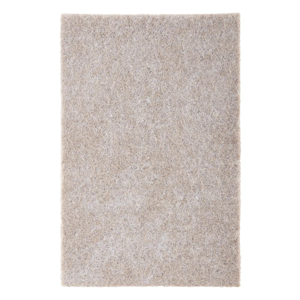 4 in. x 6 in. Beige Rectangle Surface Protection Felt Floor