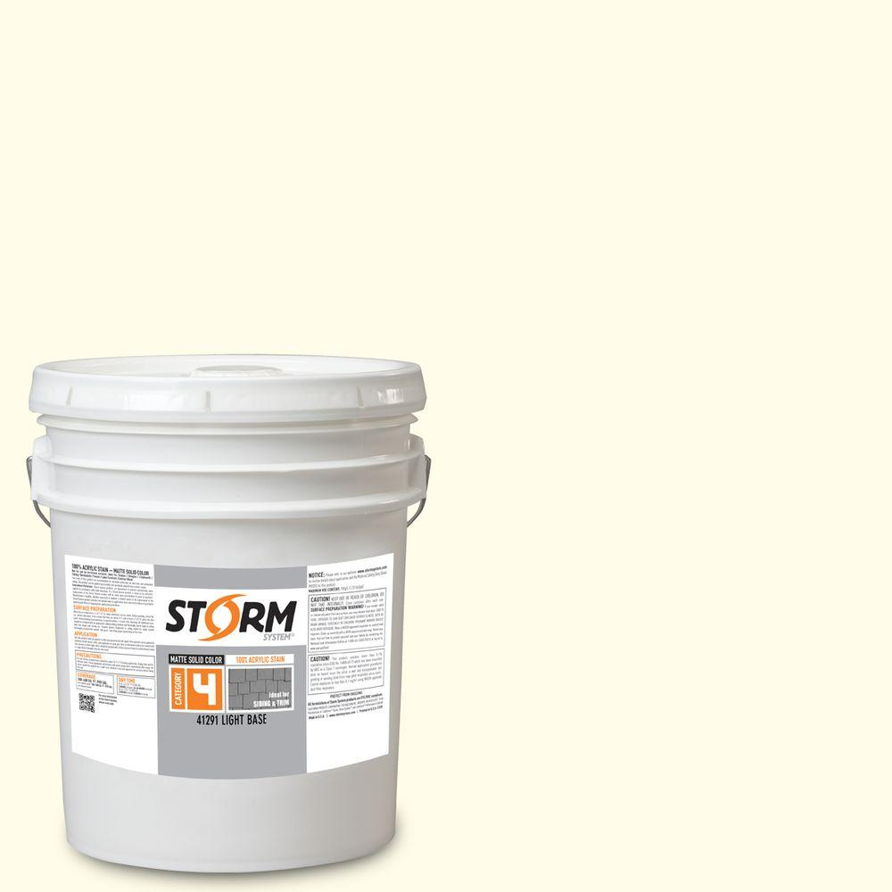 Storm System Category 4 5 gal. Country Club White Matte Exterior Wood Siding 100% Acrylic Stain