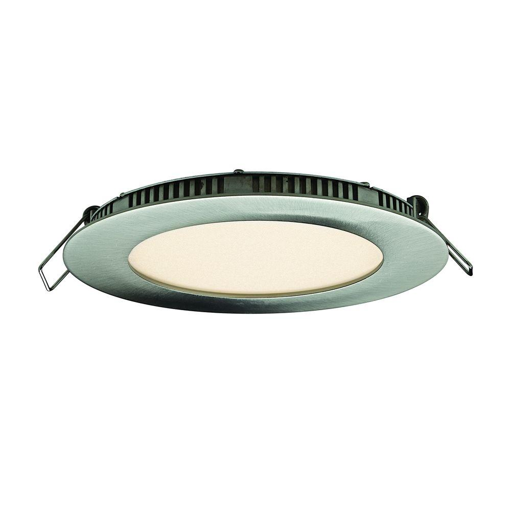5 in. Satin Nickel Integrated LED Recessed Kit