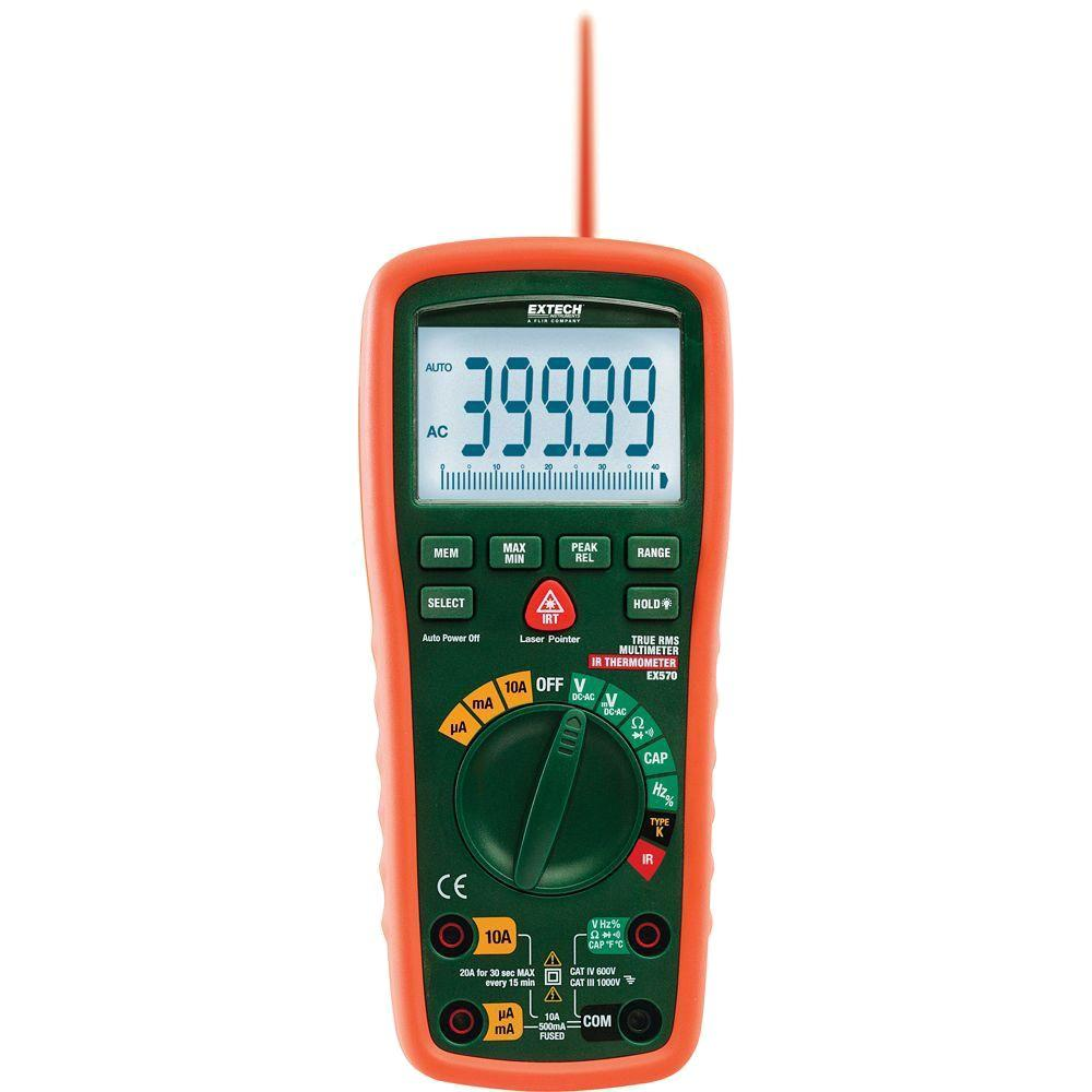 12 Function True RMS Industrial Multimeter with IR Thermometer