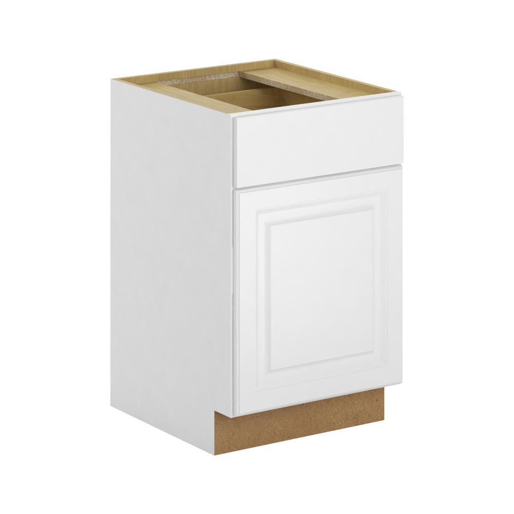 Assembled 21x34.5x24 in. Madison Base Cabinet in Warm White