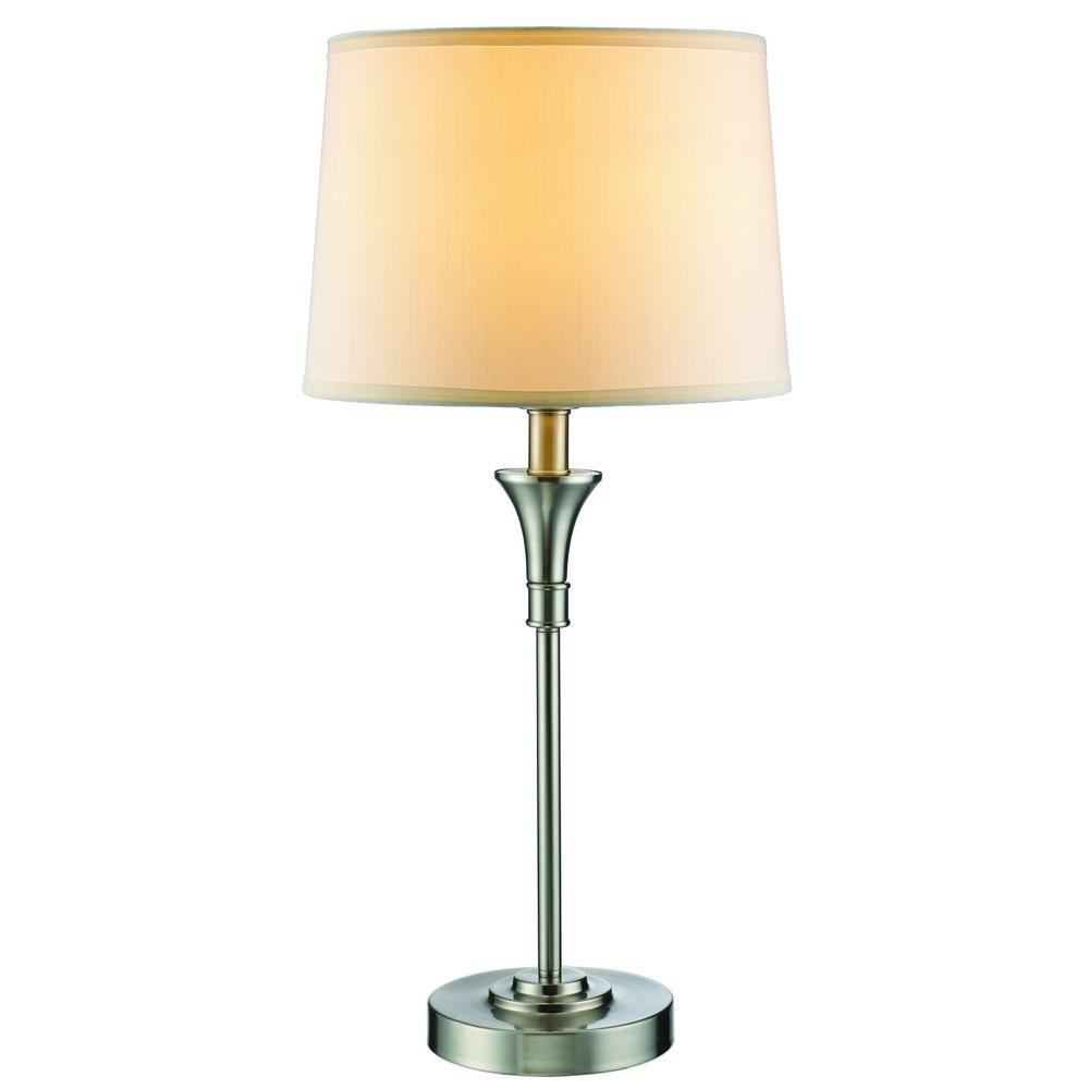 Hampton Bay Towne Collection Table Lamp Brushed Nickel Finish (CFL)