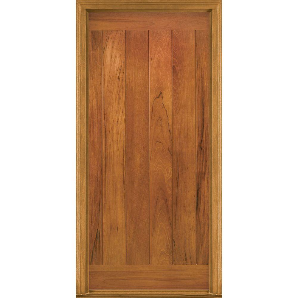 Masonite 36 in. x 80 in. AvantGuard Flagstaff Finished Smooth Fiberglass Prehung Front Door with No Brickmold