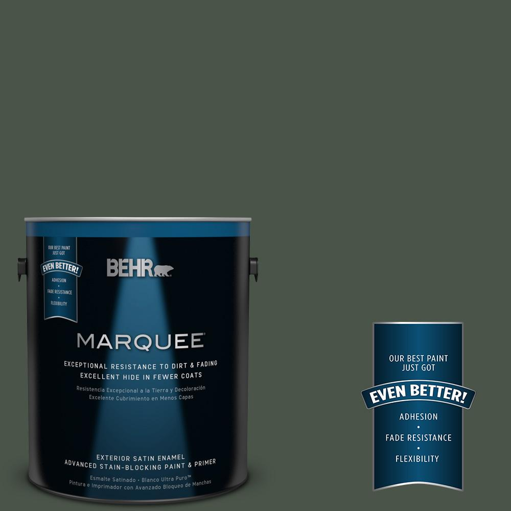 BEHR MARQUEE 1-gal. #PMD-66 Deep Evergreen Satin Enamel Exterior Paint