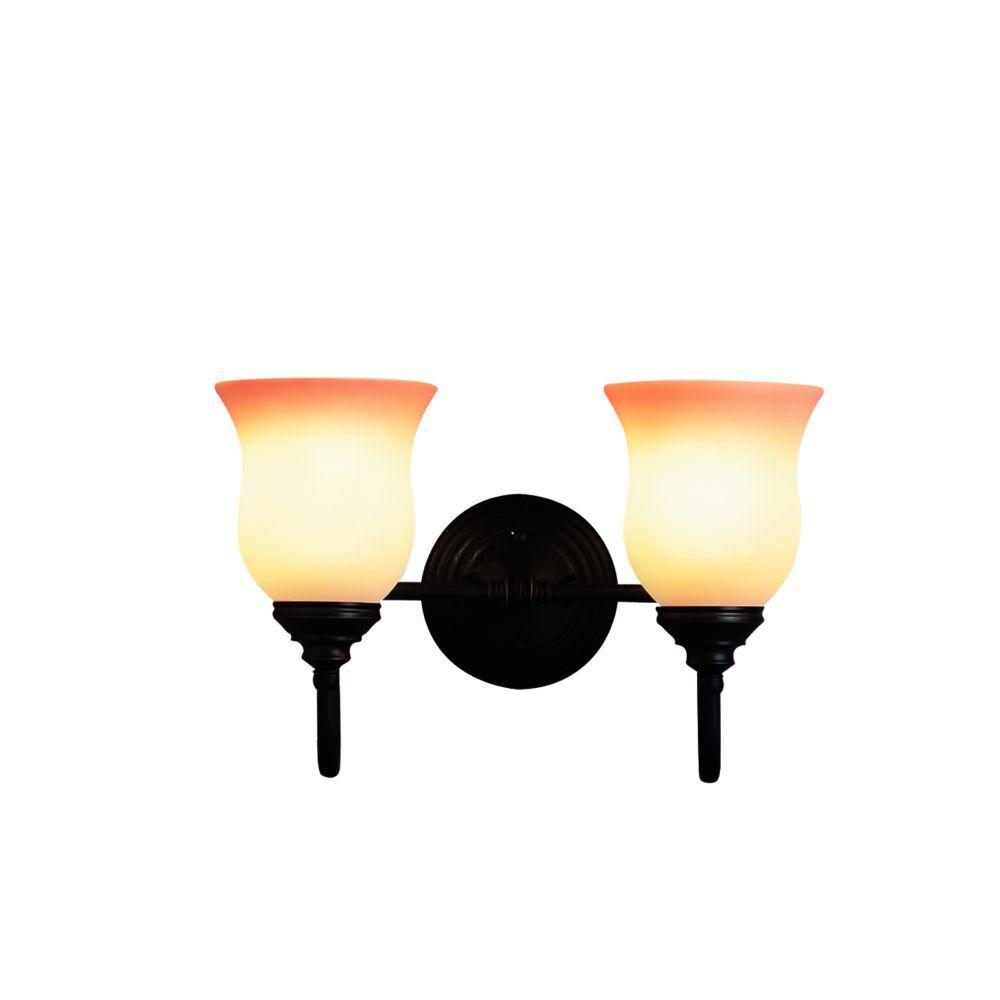 Renfrew Collection 2-Light Oil Rubbed Bronze Wall Sconce
