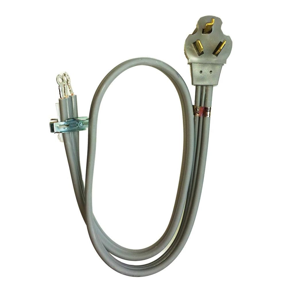 Whirlpool 4 ft. 3-Wire 30 Amp Dryer Cord-PT220L - The Home