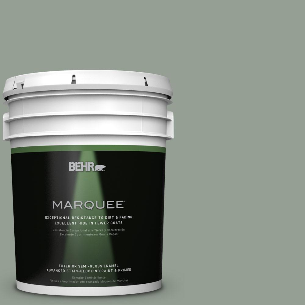 BEHR MARQUEE 5-gal. #N400-4 Forest Path Semi-Gloss Enamel Exterior Paint-545405