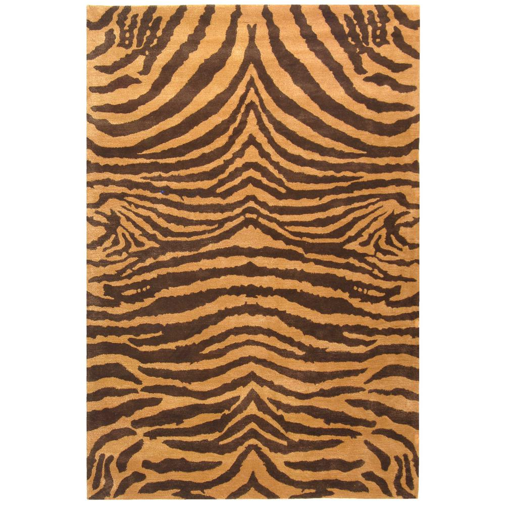 Soho Brown/Gold 5 ft. x 8 ft. Area Rug