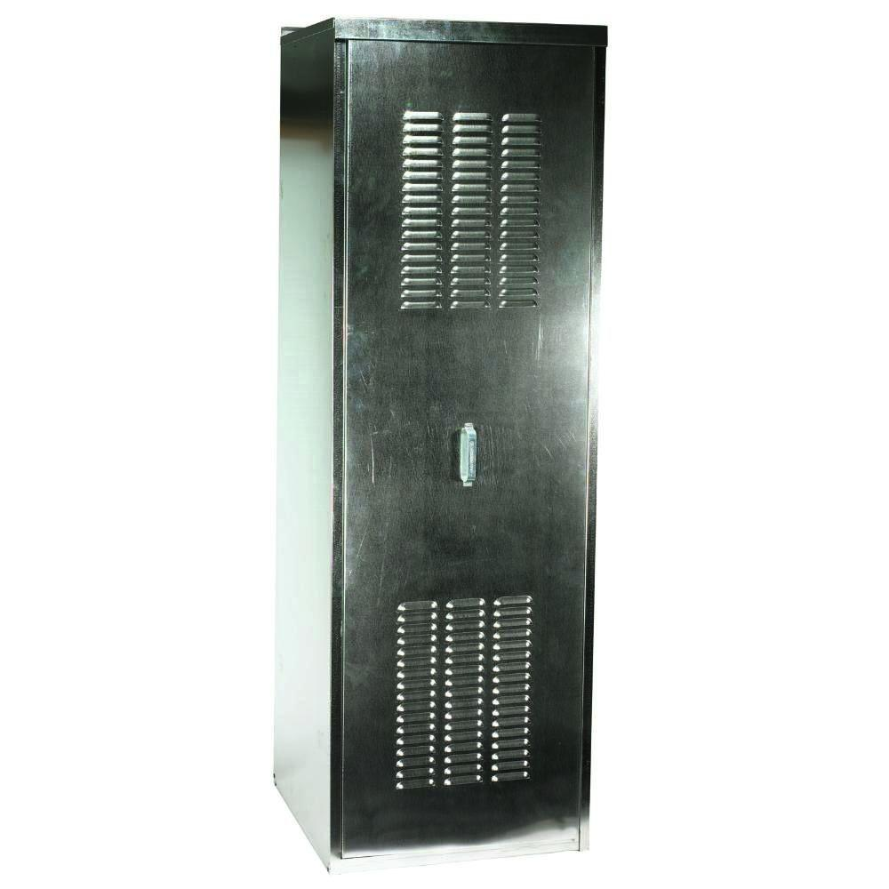 null 24 in. W x 24 in. D x 72.5 in. H Galvanized Steel Water Heater Enclosure