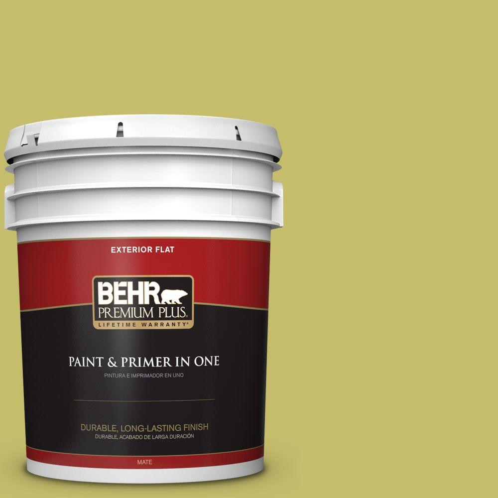 5-gal. #P350-5 Go Go Lime Flat Exterior Paint