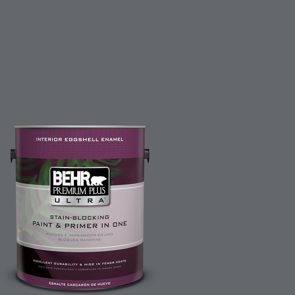 1 gal. #PPU26-02 Imperial Gray Eggshell Enamel Interior Paint