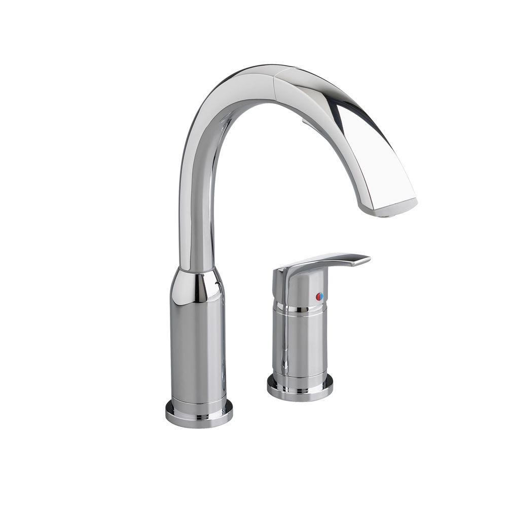 Arch Single-Handle Pull-Out Sprayer Kitchen Faucet in Polished Chrome