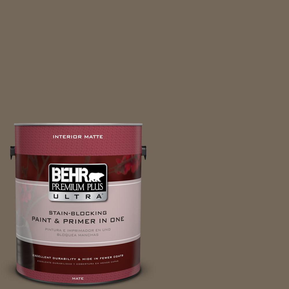 1 gal. #720D-6 Toasted Walnut Flat/Matte Interior Paint
