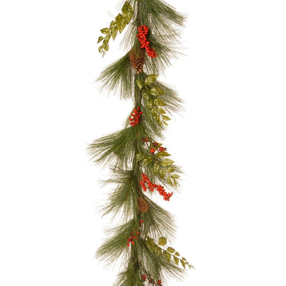 6 ft. Mixed Bristle Pine Garland
